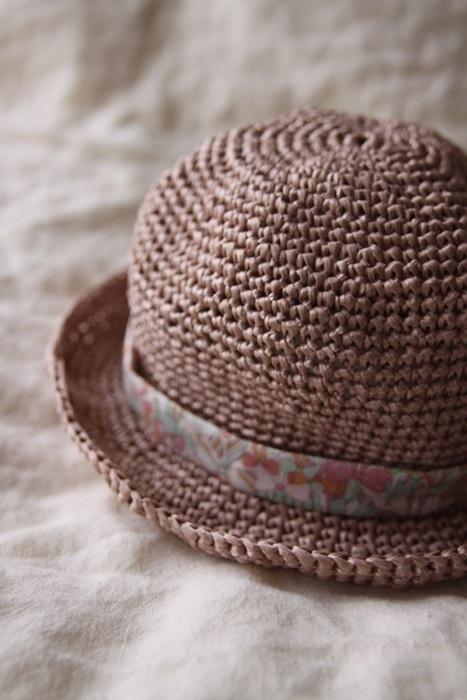 なつのコドモ帽子 for Baby アッシュローズ