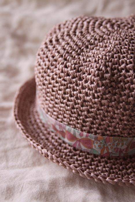 なつのコドモ帽子 for Kid's アッシュローズ