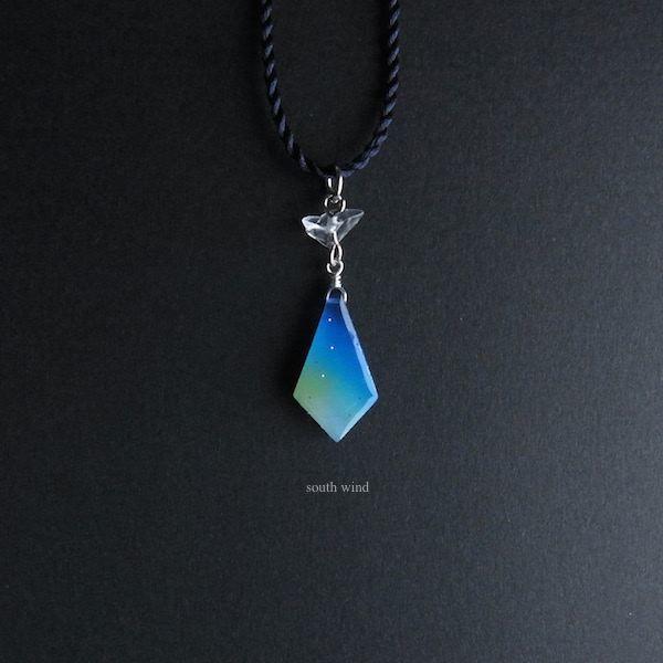 【天空星(Blue)】シルクコードネックレス(Indigo)《Renewal》