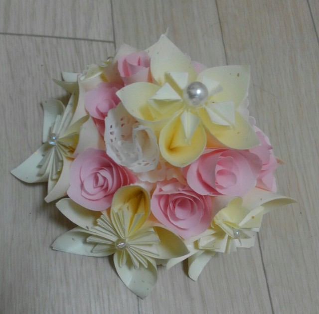 ハート 折り紙 : 壁飾り 折り紙 : minne.com
