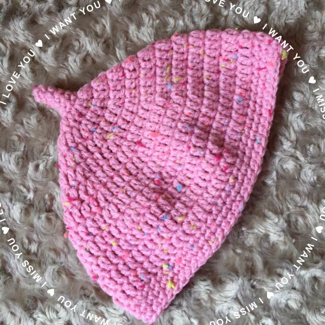 ピンクのどんぐり帽子☆サイズ約44cm