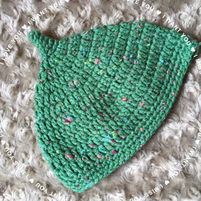 グリーンのどんぐり帽子★サイズ約44cm