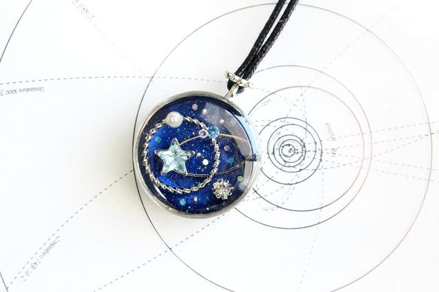 [ご依頼品]ロングネックレス・連星−Sirius−