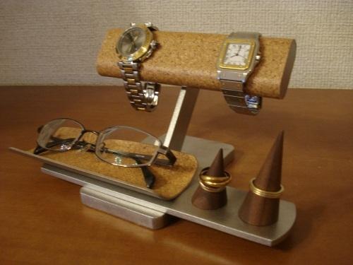 プレゼントに!だ円パイプ2本掛け腕時計、ダブルリング、メガネスタンド ★リングスタンド未固定 ak-design