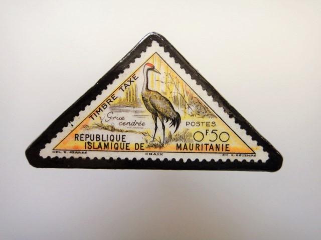 三角切手ブローチ1531