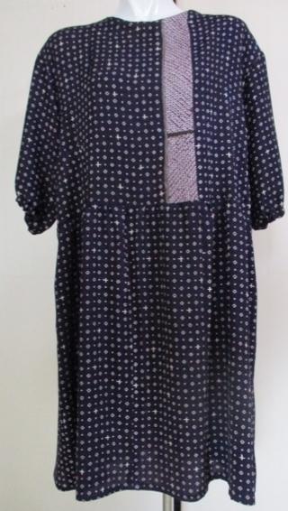 着物リメイク 小紋の着物で作ったチュニックワンピース 1857