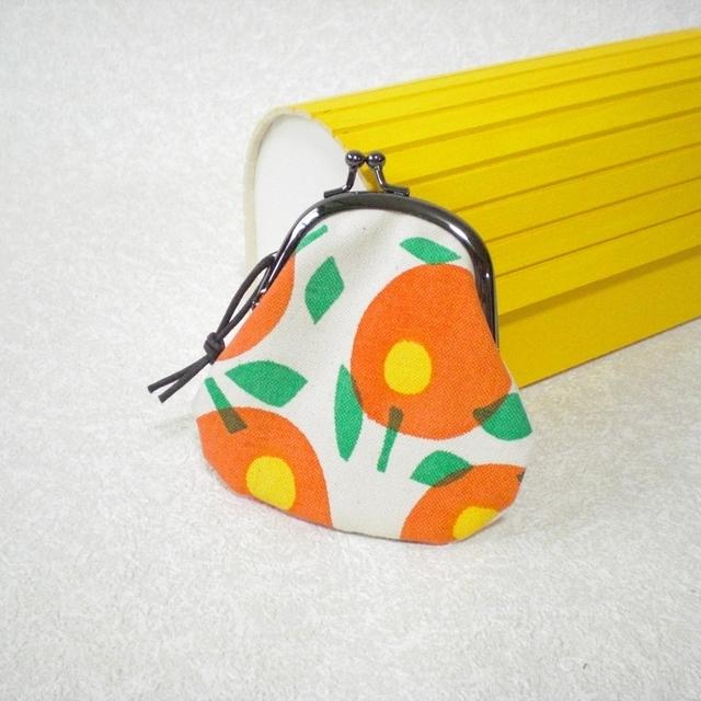 ミニお花がまぐち orange