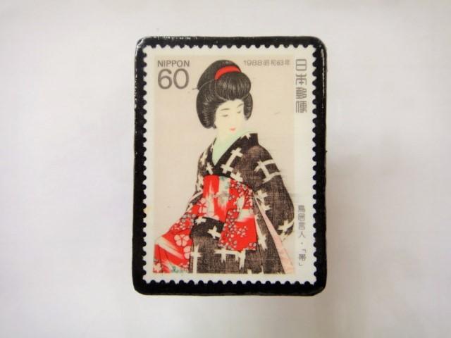 日本 切手ブローチ 1534