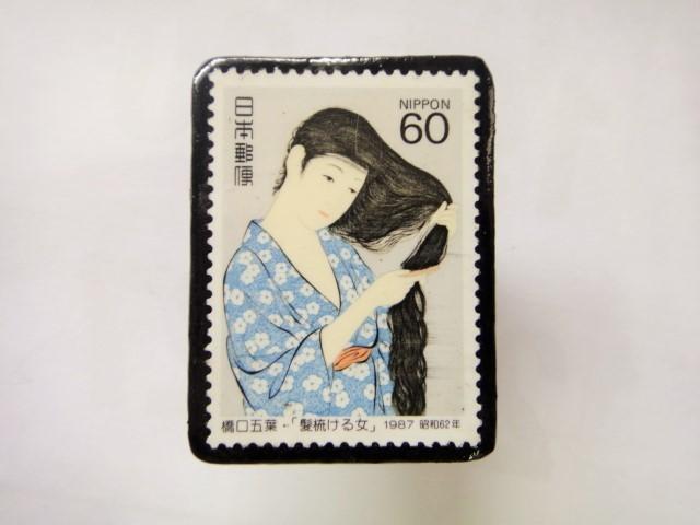 日本 切手ブローチ 1535