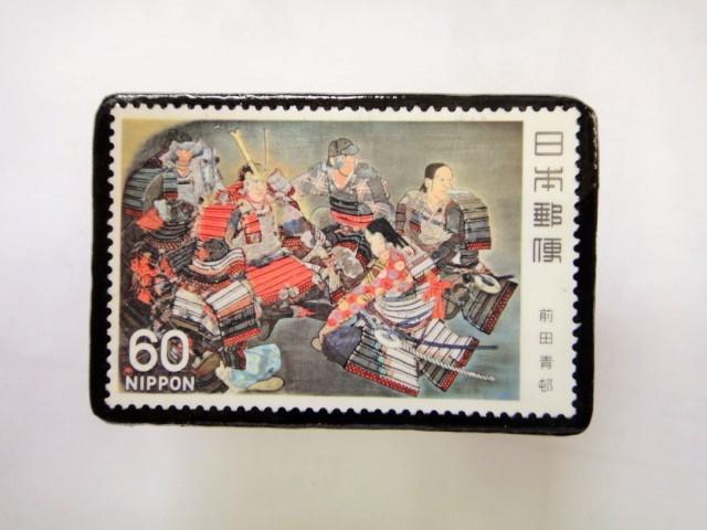 日本 切手ブローチ 1542