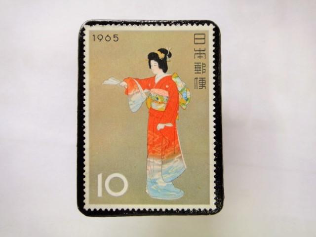 日本 切手ブローチ 1545