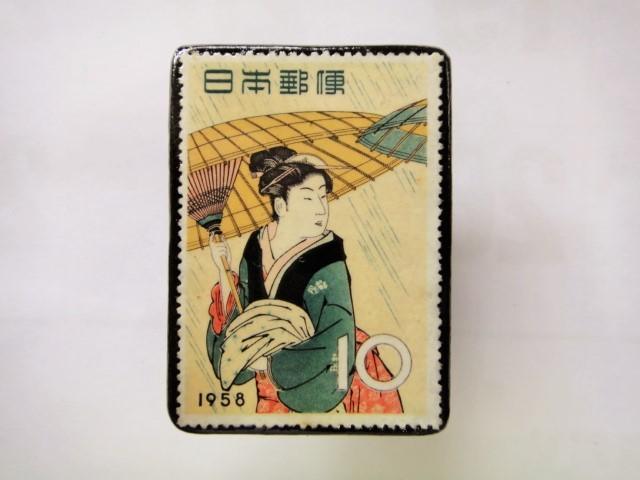 日本 切手ブローチ 1546