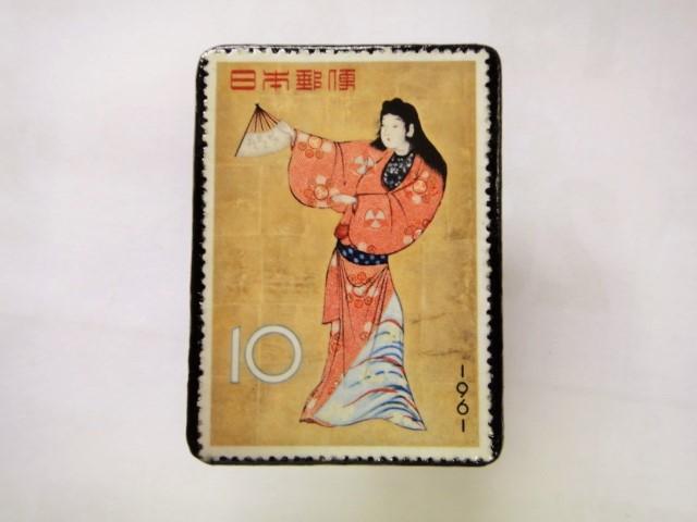 日本 切手ブローチ 1547
