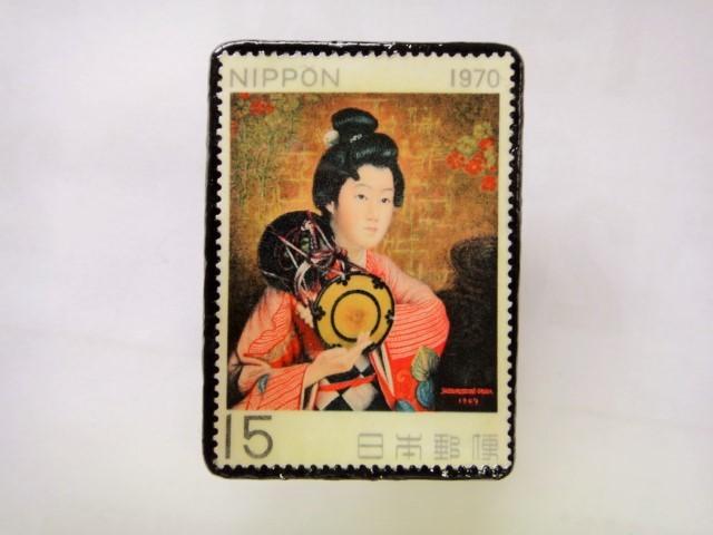 日本 切手ブローチ 1548