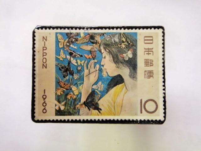日本 切手ブローチ 1550