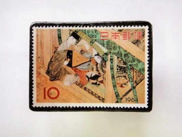 日本 切手ブローチ 1551
