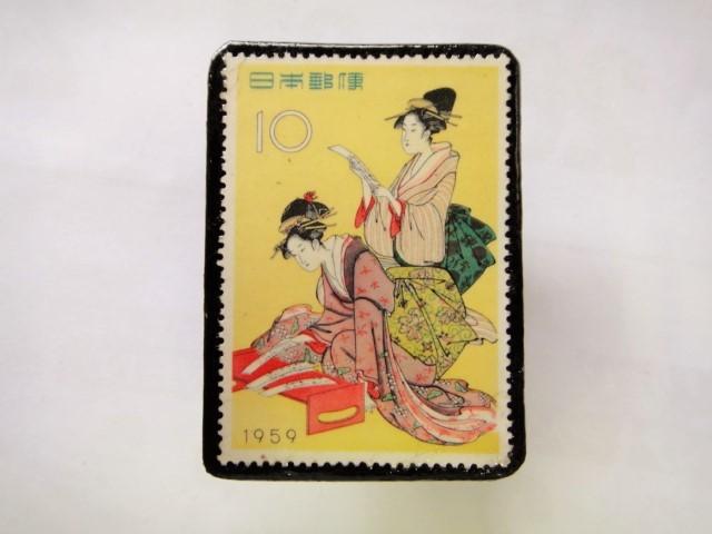 日本 切手ブローチ 1552