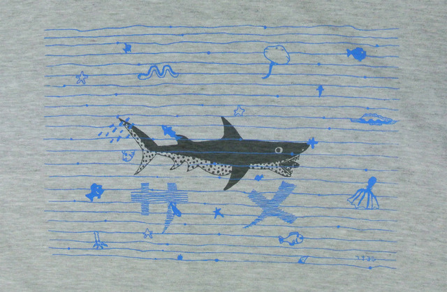 鮫Tシャツ メンズM