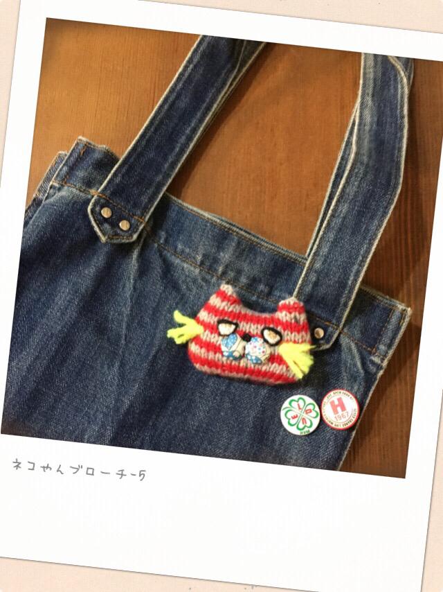 ネコやんブローチ-5