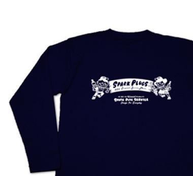 スパークプラグとBoy & Girl★アメリカンレトロ【片面A柄】長袖Tシャツ