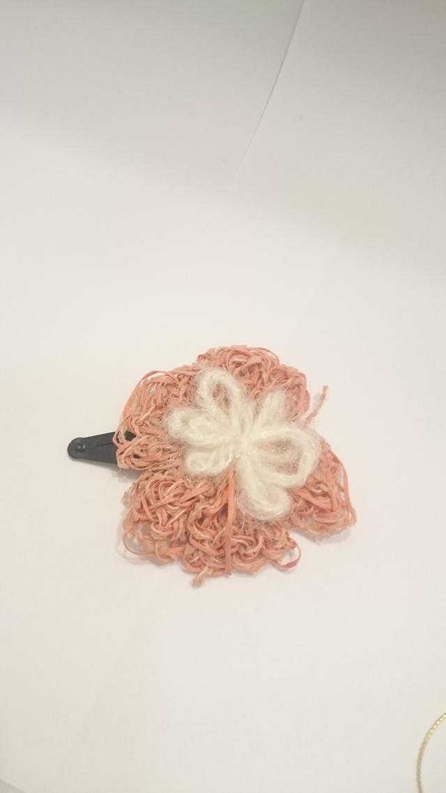 和紙のお花のヘアピン