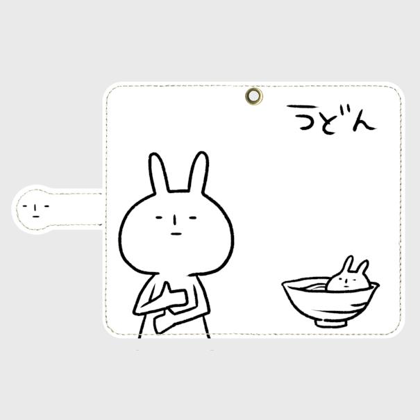 うどん(めいそうのすがた)手帳型ケース