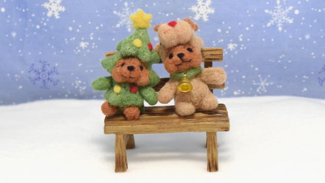 ハッピークリスマス!ツリーコグマさんとトナカイコグマさんの仲良しツーショット