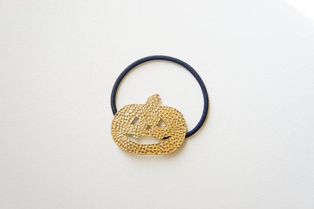 ハロウィン〜オバケカボチャヘアゴム