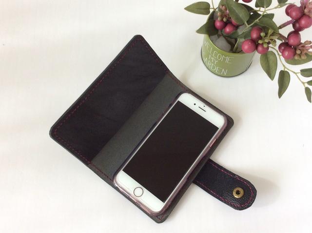 本革 iPhoneケース (黒)