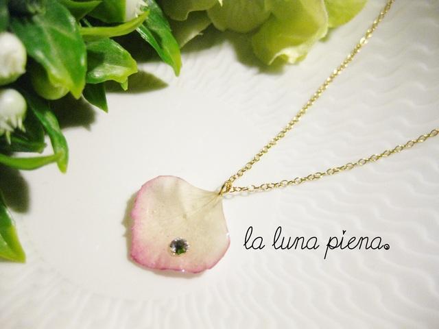 ◇k14gf◇ 紫陽花のひとひらネックレス