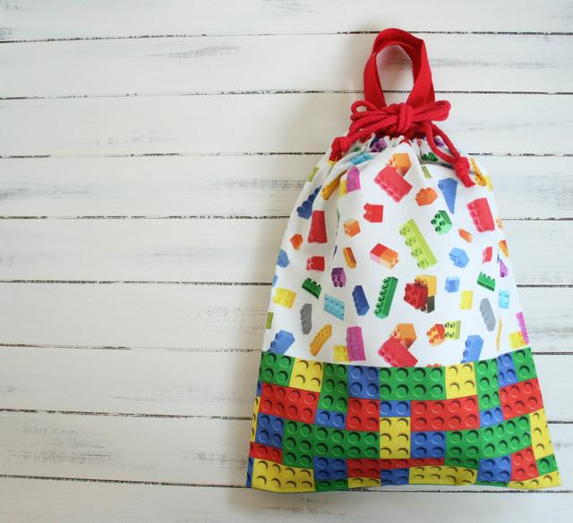 入園入学準備 ブロックだらけの体操着袋