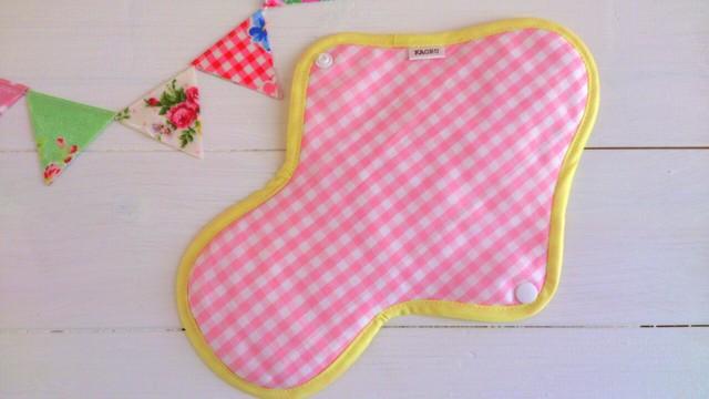 可愛い布ナプキン『ピンクグレープフルーツ』+昼用Lサイズ