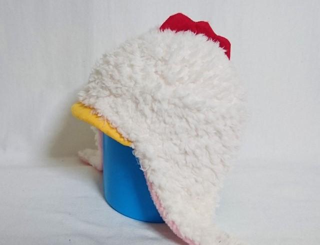 ニワトリ耳あて帽子50 3838yukariさまオーダー品