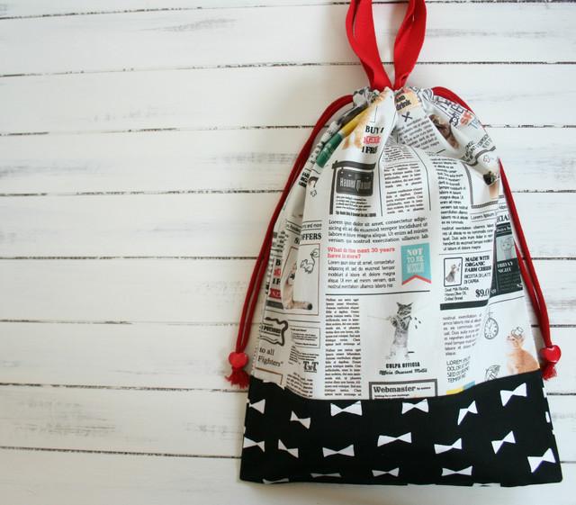 お正月セール! 入園入学準備 ねこ新聞の体操着袋