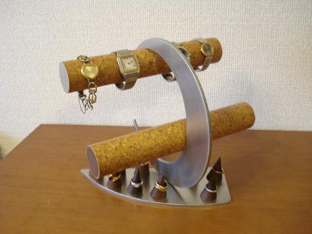 腕時計スタンド 丸パイプ三日月指輪スタンドザクザク腕時計スタンド ak-design