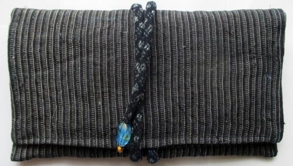 着物リメイク 麻の上布で作った和風財布 1866