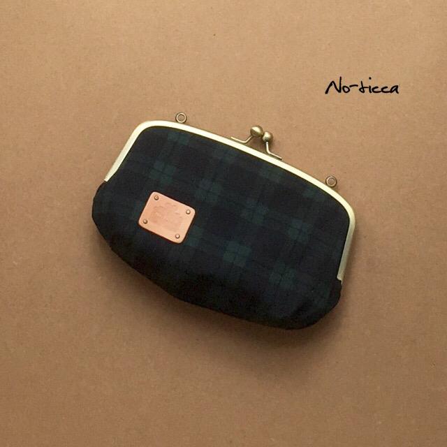 新作★2WAY☆ブラックウォッチ柄お財布バッグ