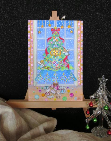 ?クリスマスの準備キラキラカードと別の...
