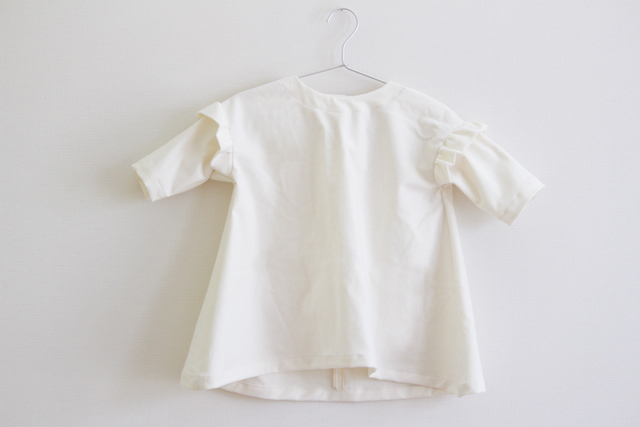 kids  Flannel cotton dress --of white --- 100