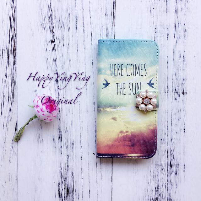 【iphone5C】希望の陽手帳型ケース