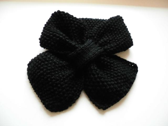 ポコポコかのこ編みキャンディーマフラー(ブラック)