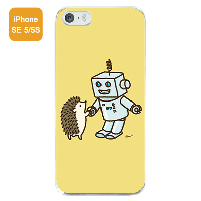「はりねずみ&ロボット」iPhoneSE/5/5S...