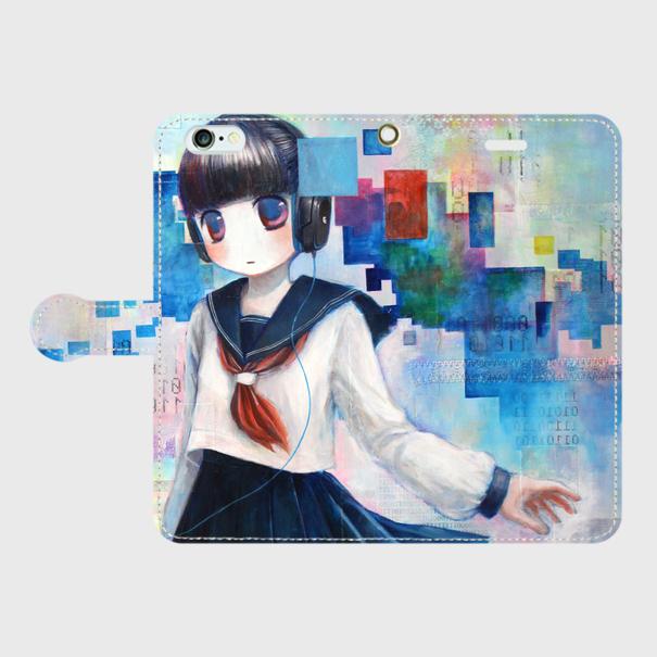 iPhone6/6s 手帳型ケース「Φ」【受注生...