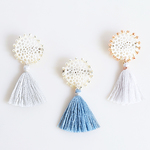 silk tassel lace broach(ブローチ)
