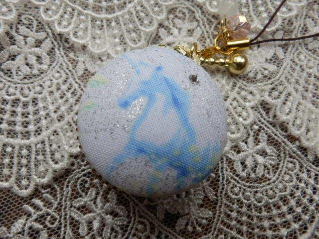 小型 朝霧のユニコーンマカロン (天然石の飾り付)