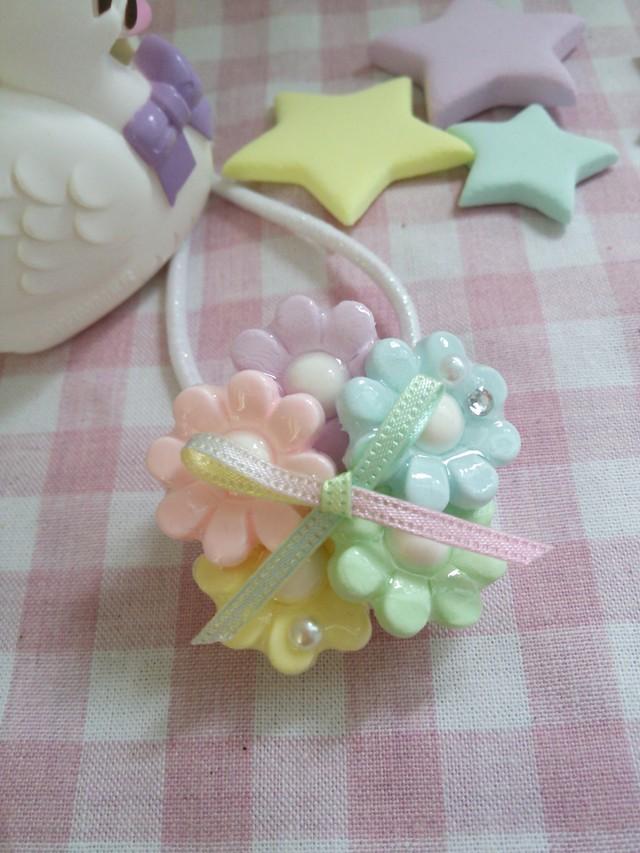 Candy☆Drop メルヘンフラワーのヘアゴム