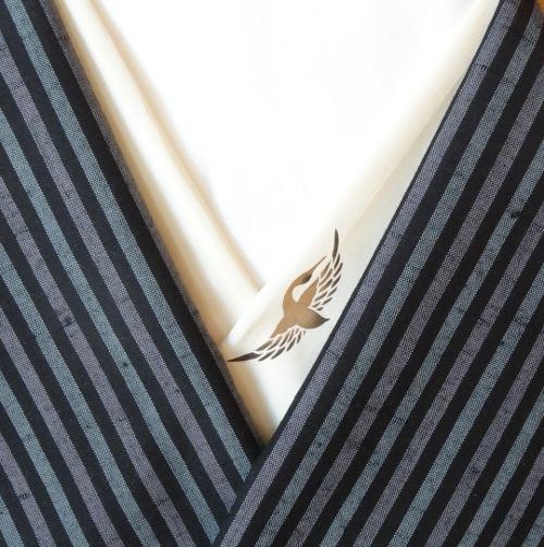 オーガニックコットン半襟・鶴