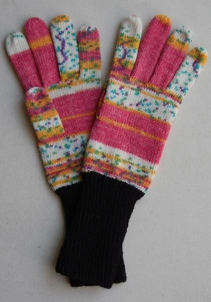 手編み5本指手袋 No.30