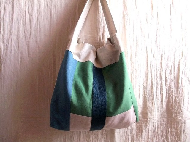 itoiro bag (blue green)
