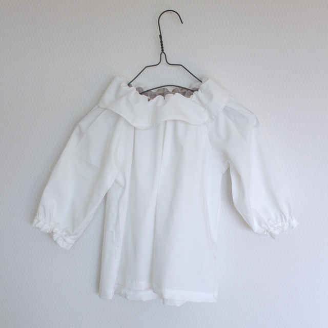 kids white blouse -cotton lawn-   100